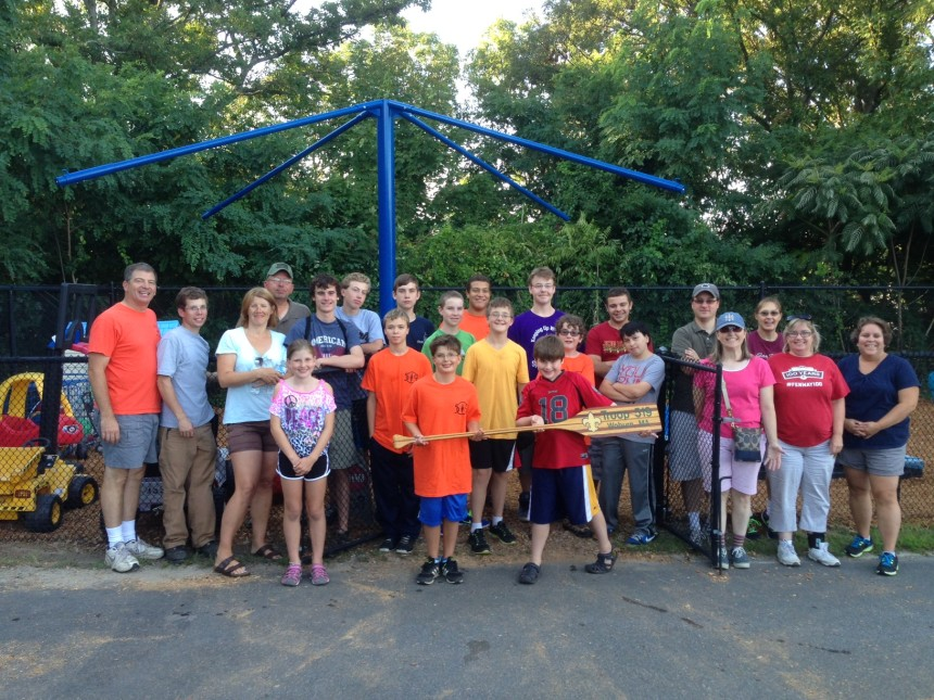 Thank you Troop 519 for cleaning our playground. Aug. 2014